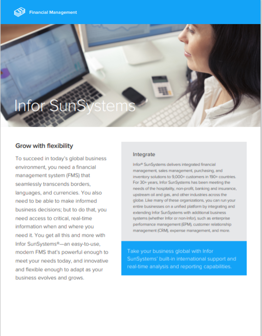 Infor SunSystems Brochure