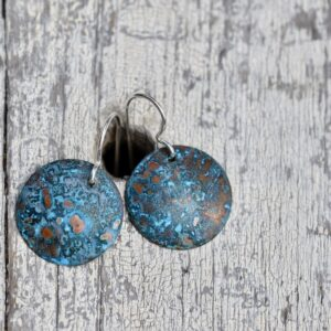 blue patina copper circle