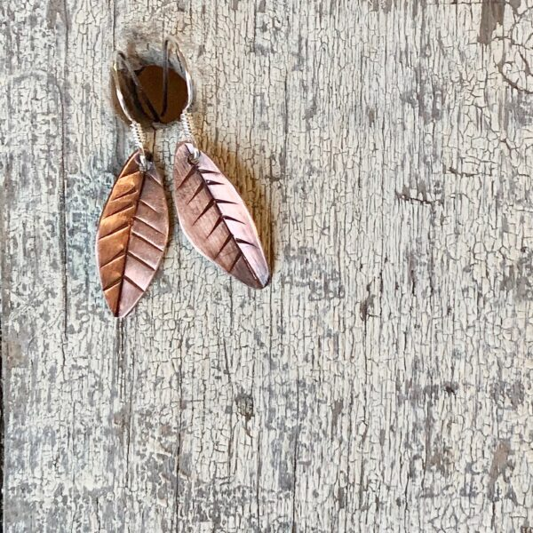 Contemporary Leaf Earrings 1