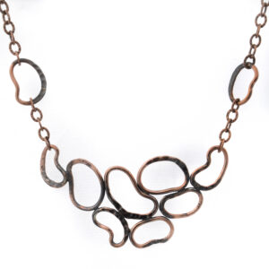 copper circles necklace