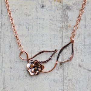 copper flower necklace