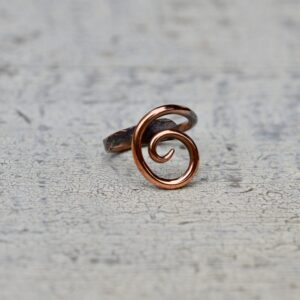 copper ring large swirl
