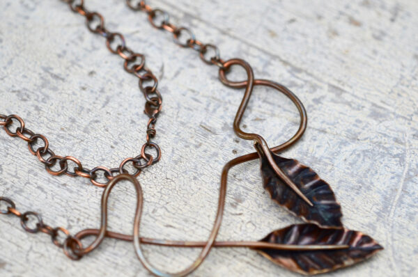 Copper Leaves Clasp