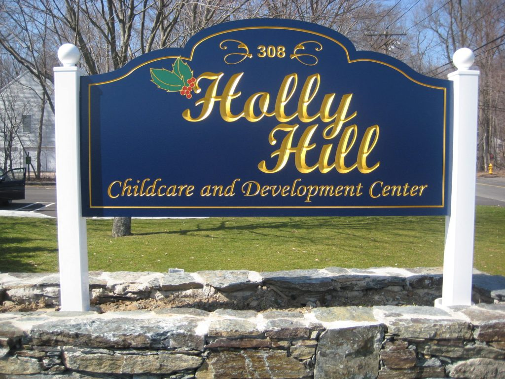 Holly Hill PVC Sign Kit with 23k Gold Leaf