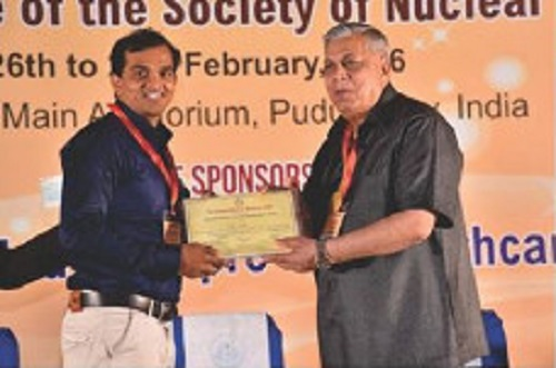 Nuclear medicine department rewarded with best research paper award III national conference of nuclear medicine (SNM India)