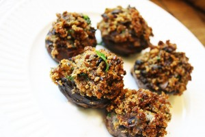 Healty Recipes for stuffed mushrooms