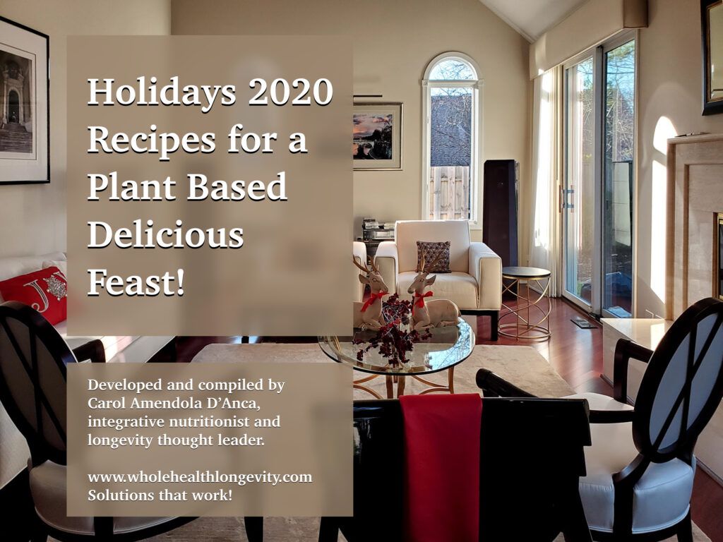 2020 Holiday Plant Based Recipes