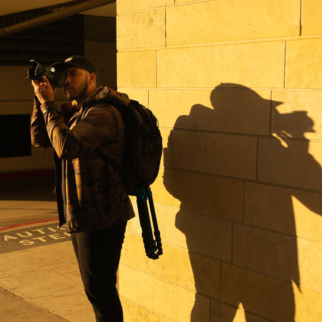 OGIO Live Your Go's Reynier Horta taking photos