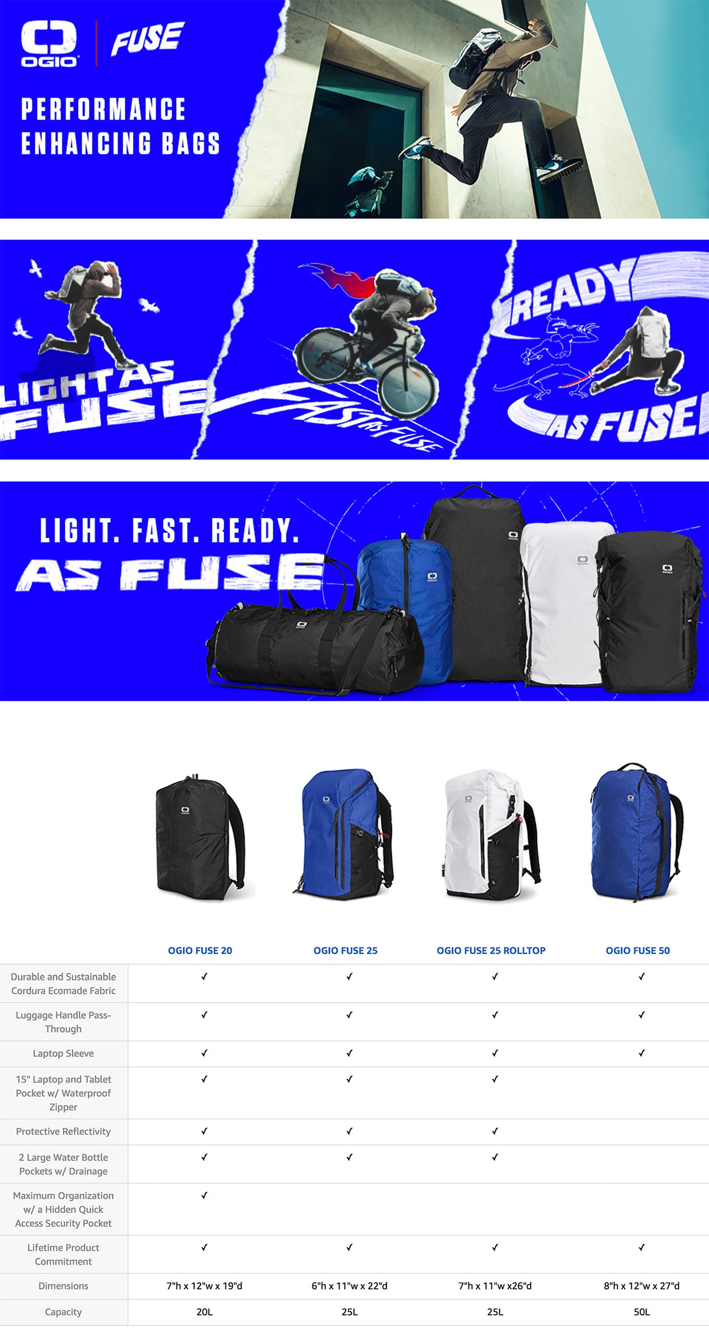 OGIO FUSE Collection A+ Content
