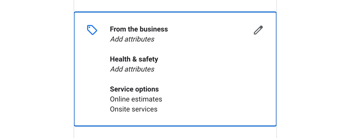 Step 4: 4. Select the right attributes for your business