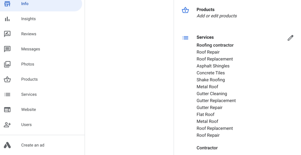 Step 9: Add your products and services