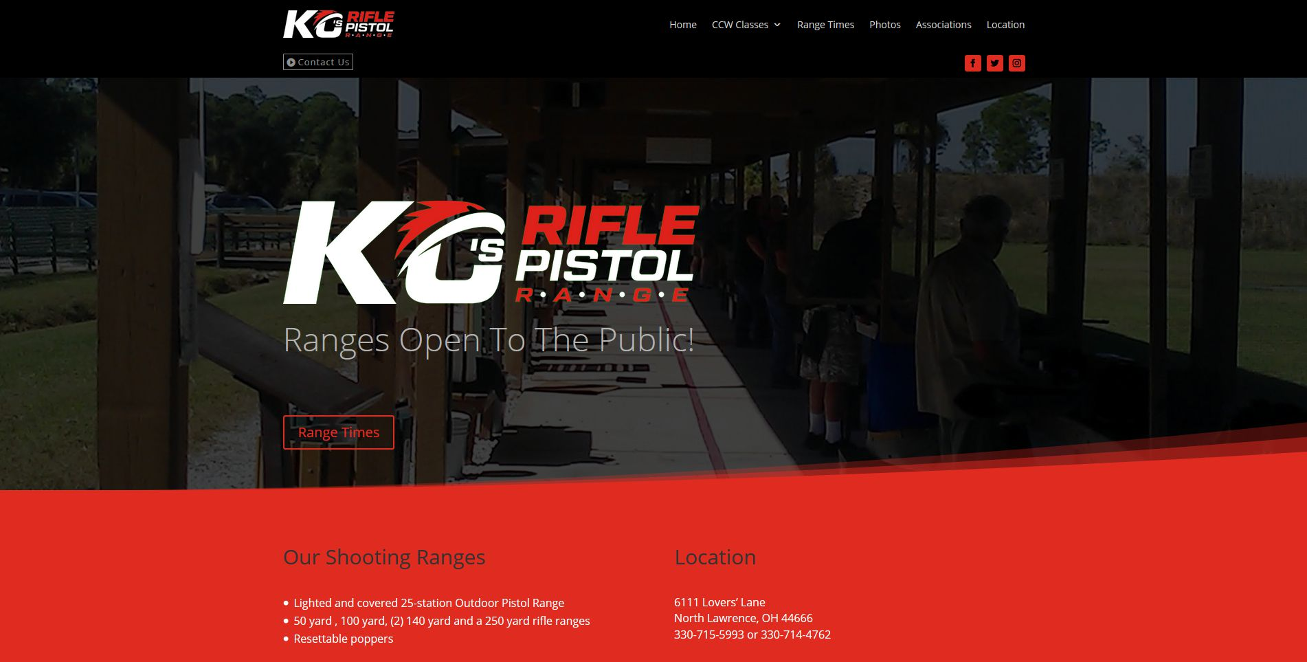 Home page of the KC Rifle Pistol Range website
