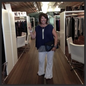 Ginger working it in the showroom!