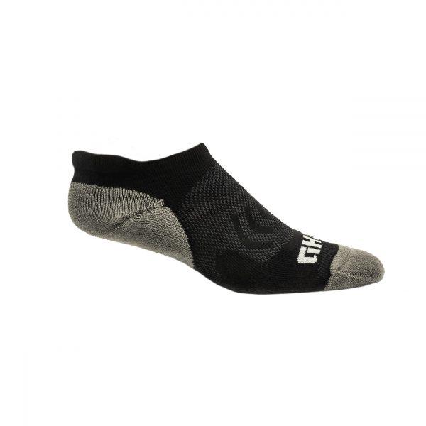 Black Run Tab Sock