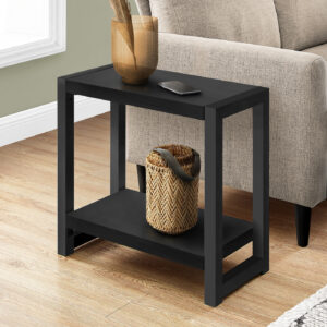 ACCENT TABLE – 22″H / BLACK / BLACK METAL
