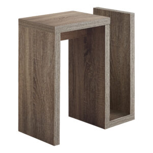 ACCENT TABLE – 24″H / DARK TAUPE
