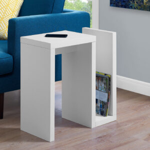 ACCENT TABLE – 24″H / WHITE