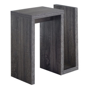 ACCENT TABLE – 24″H / GREY