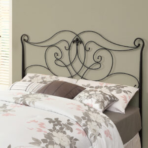 BED – QUEEN OR FULL SIZE / SATIN BLACK HEAD OR FOOTBOARD