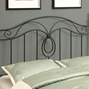 BED – QUEEN OR FULL SIZE / BLACK HEADBOARD OR FOOTBOARD