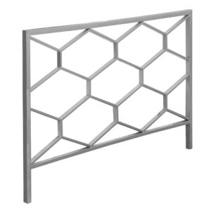 BED – QUEEN OR FULL SIZE / SILVER HEADBOARD OR FOOTBOARD