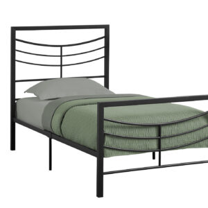 BED – TWIN SIZE / BLACK METAL FRAME ONLY