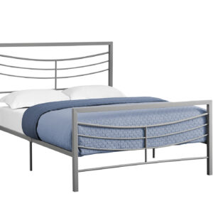 BED – FULL SIZE / SILVER METAL FRAME ONLY