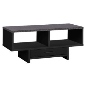 COFFEE TABLE – BLACK / GREY TOP WITH STORAGE