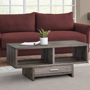 COFFEE TABLE – DARK TAUPE WITH STORAGE