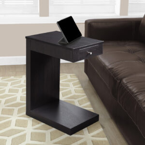 ACCENT TABLE – ESPRESSO WITH A DRAWER