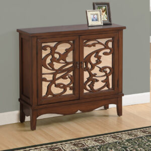 ACCENT CHEST – DARK WALNUT / MIRROR TRADITIONAL STYLE