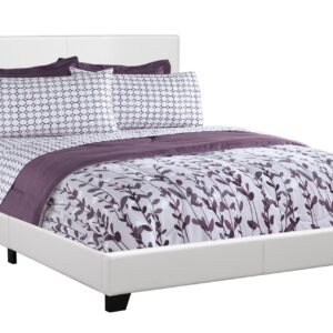 BED – QUEEN SIZE / WHITE LEATHER-LOOK