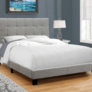 BED – FULL SIZE / GREY LINEN