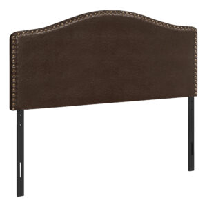 BED – FULL SIZE / BROWN LEATHER-LOOK HEADBOARD ONLY