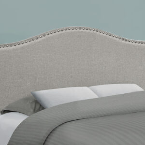 BED – FULL SIZE / GREY LINEN HEADBOARD ONLY