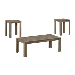 TABLE SET – 3PCS SET / DARK TAUPE