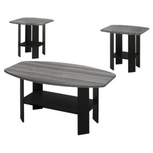 TABLE SET – 3PCS SET / BLACK / GREY TOP