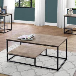 TABLE SET – 3PCS SET / DARK TAUPE / BLACK METAL