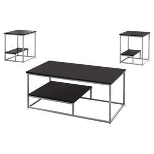 TABLE SET – 3PCS SET / ESPRESSO / SILVER METAL