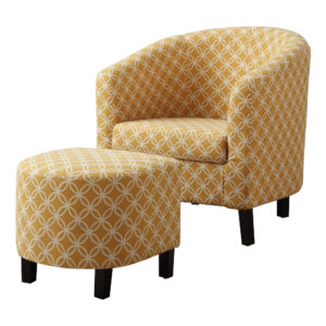 "ACCENT CHAIR – 2PCS SET/ BURNT YELLOW "" CIRCULAR """