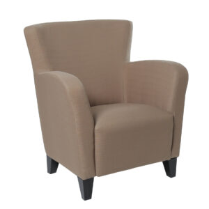 ACCENT CHAIR – BROWN LINEN FABRIC