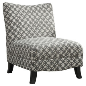 "ACCENT CHAIR – GREY "" CIRCULAR "" FABRIC"
