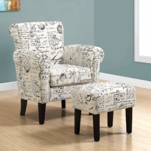 ACCENT CHAIR – 2PCS SET / VINTAGE FRENCH FABRIC