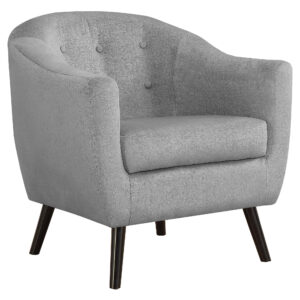 ACCENT CHAIR – GREY MOSAIC VELVET