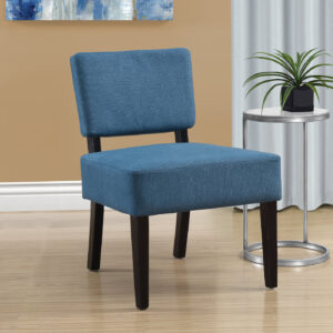 ACCENT CHAIR – BLUE FABRIC