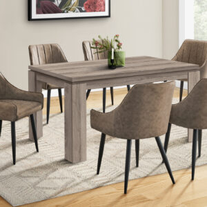 DINING TABLE – 36″X 60″ / DARK TAUPE