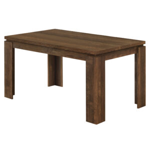 DINING TABLE – 36″X 60″ / BROWN RECLAIMED WOOD-LOOK