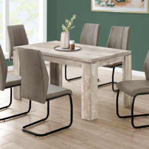 DINING TABLE – 36″X 60″ / TAUPE RECLAIMED WOOD-LOOK