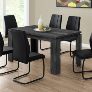DINING TABLE – 36″X 60″ / BLACK RECLAIMED WOOD-LOOK