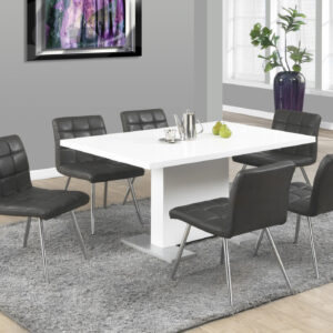 DINING TABLE – 35″X 60″ / HIGH GLOSSY WHITE